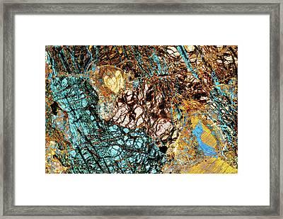 Serpentine Rock Framed Print