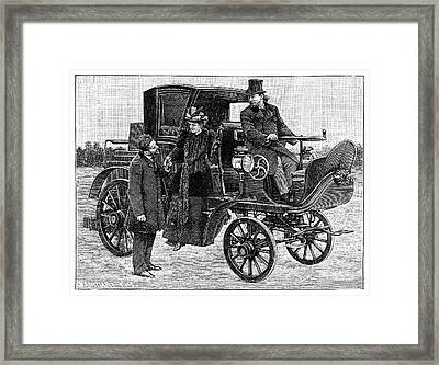 Serpollet Steam Car Framed Print