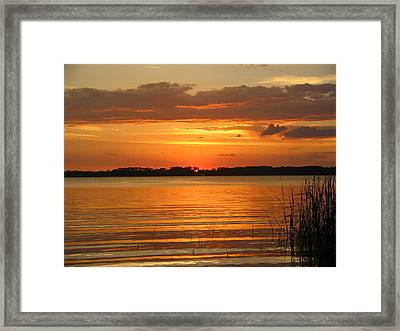 Setting Sun In Mount Dora Framed Print