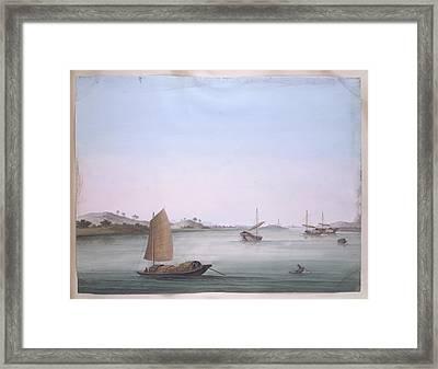 Several Boats Framed Print