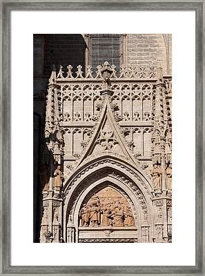 Seville Cathedral Ornamentation Framed Print by Artur Bogacki