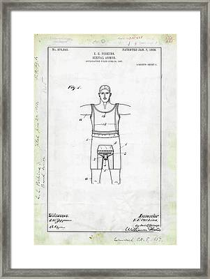 Sexual Armour Patent Framed Print