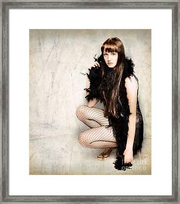 Sexy Pert Cabaret Girl Framed Print