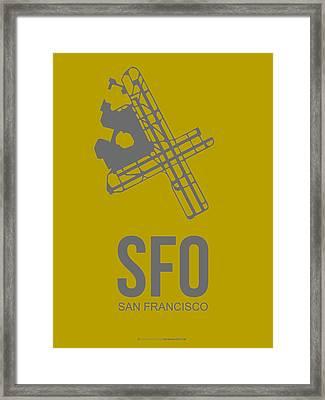 Sfo San Francisco Airport Poster 2 Framed Print by Naxart Studio