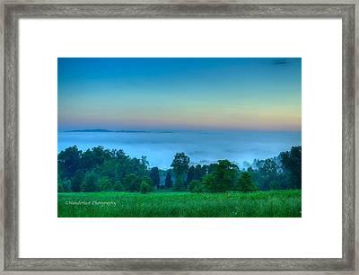 Shaconage Land Of The Blue Smoke Framed Print by Paul Herrmann