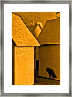 Shadow Of A Crow Framed Print by Jeff  Gettis