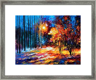 Shadows On Snow Framed Print