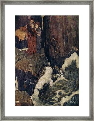 Shakespeares Comedy Of The Tempest Framed Print