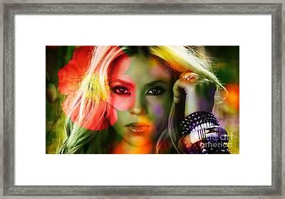 Shakira Framed Print by Marvin Blaine
