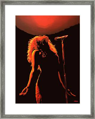 Shakira Framed Print by Paul Meijering