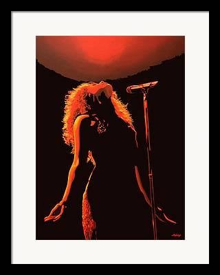 Shakira Paintings Framed Prints