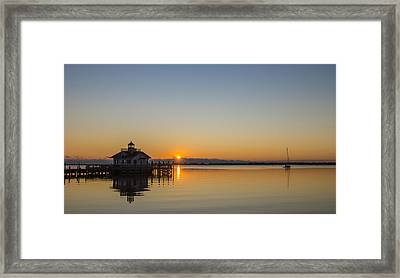 Framed Print featuring the photograph Shallowbag Bay Sunrise by Gregg Southard