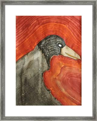 Shaman Original Painting Framed Print by Sol Luckman