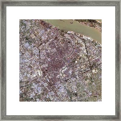 Shanghai Framed Print by Nasa