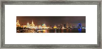Shanghai Waitan Night Framed Print