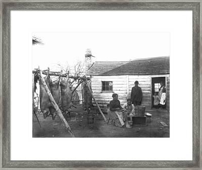 Sharecropper Family, 1900 Framed Print by Granger