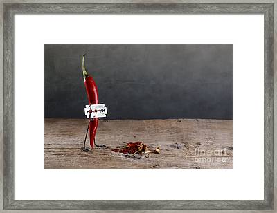 Sharp Chili Framed Print