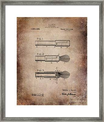 Shaving Brush Diagram 1920  Framed Print