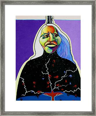 She Summons The Thunderbird Framed Print by Joe  Triano
