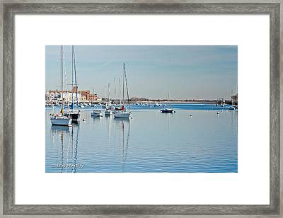 Framed Print featuring the photograph Sheepshead Bay Harbor by Ann Murphy