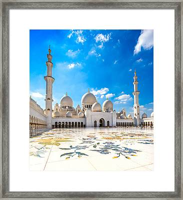 Sheikh Zayed Mosque - Abu Dhabi - Uae Framed Print