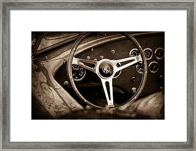 Shelby Ac Cobra Steering Wheel Emblem Framed Print