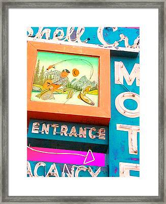Shell Crest Motel Color Framed Print by Gail Lawnicki