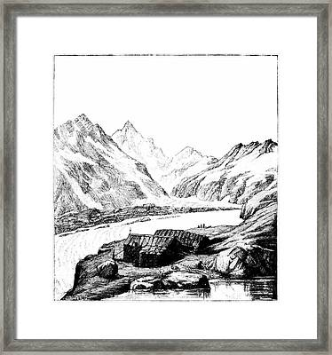 Shelter On Aar Glacier Framed Print by Universal History Archive/uig