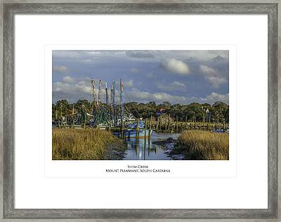 Shem Creek Framed Print