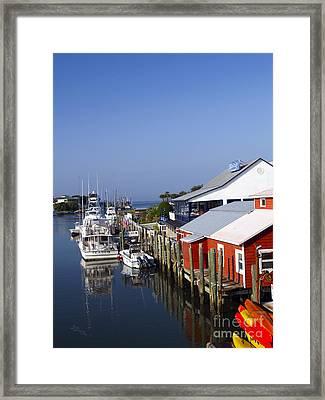 Shemcreek Mount Pleasant Charleston South Carolina Framed Print