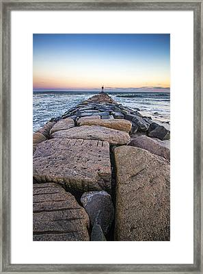 Shinnecock Inlet Jetty Framed Print