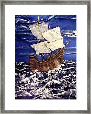 Ship Framed Print by Angela Stout