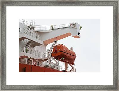 Shipboard Lifeboat Framed Print by Science Photo Library