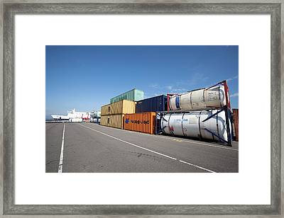 Shipping Containers Framed Print by Adam Hart-davis