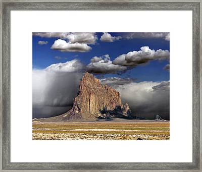 Shiprock - New Mexico Framed Print by Allen Lang