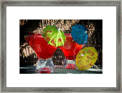 Shirley Temple Cocktail Framed Print by Iris Richardson