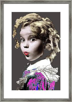 Shirley Temple Publicity Photo Circa 1935-2014 Framed Print by David Lee Guss
