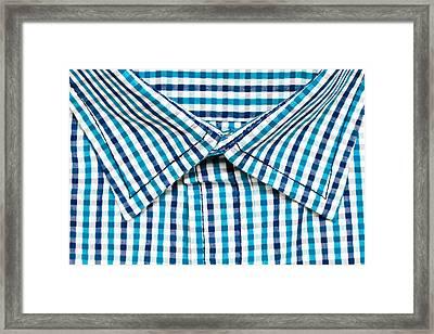 Shirt Collar Framed Print by Tom Gowanlock