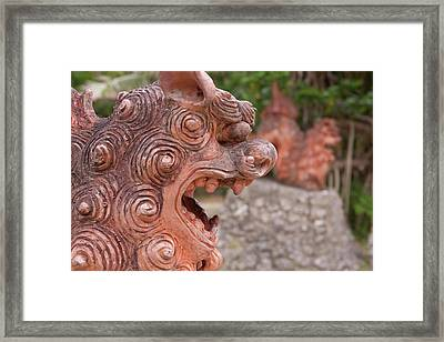 Shisa, Or Okinawan Lion Gods Framed Print by Paul Dymond