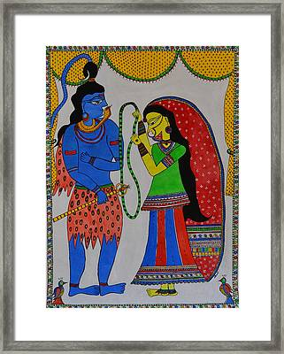 Shiv Parvati Framed Print by Shruti Prasad
