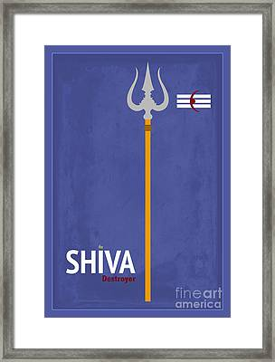 Shiva The Destroyer Framed Print by Tim Gainey