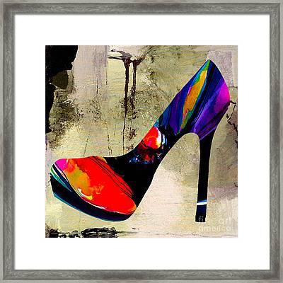 Shoe Fashion Framed Print by Marvin Blaine