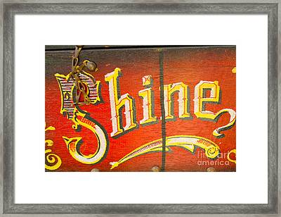 Shoe Shine Kit Framed Print