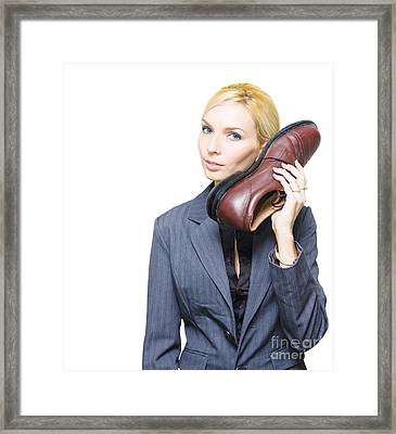 Shoe Telephone Framed Print by Jorgo Photography - Wall Art Gallery