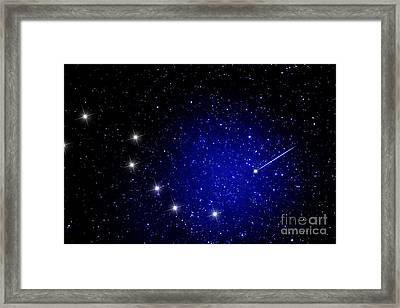 Shooting Star And Big Dipper Framed Print