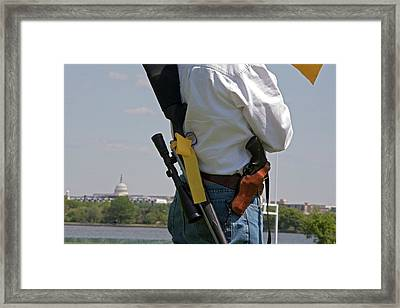 Shooting Vest Framed Print by Jim West
