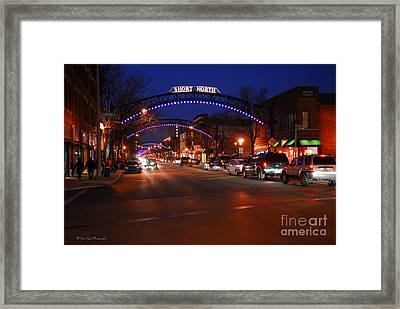 D8l353 Short North Arts District In Columbus Ohio Photo Framed Print