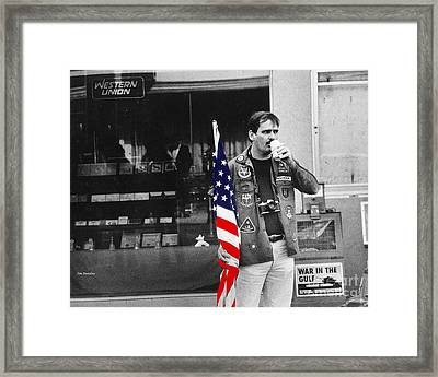 Showing Support Framed Print by   Joe Beasley