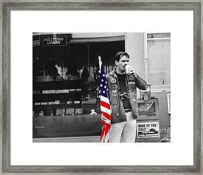 Showing Support Framed Print by   Joe Beasley