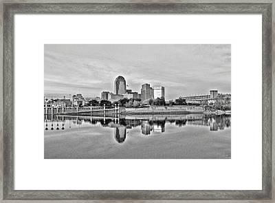 Shreveport Cityscape Framed Print by Scott Pellegrin